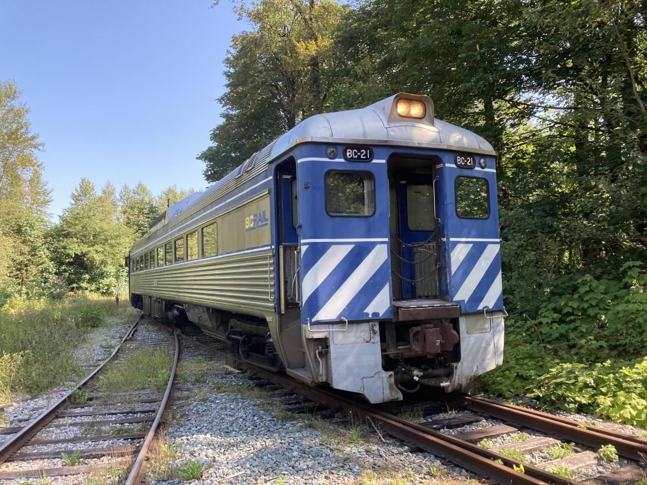 BC Rail Budd Diesel Rail Car BC-21
